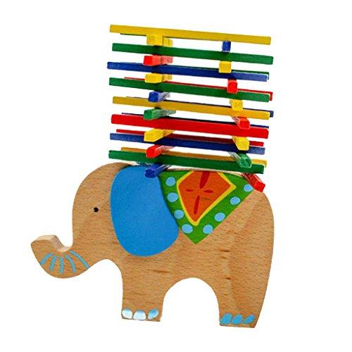 Jouet Educatif Bois Chameau Equilibre Jeu De Faisceau Enfant Bébé Cadeau - Eléphant