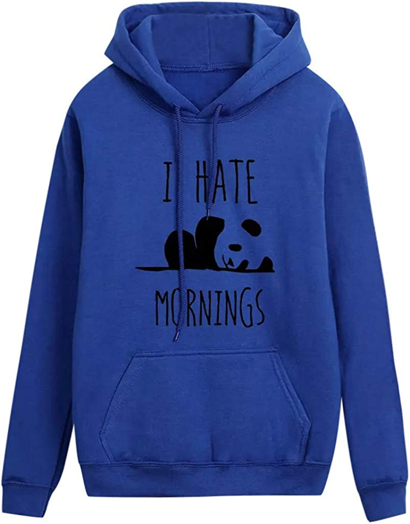 Women Autumn We OFFer at cheap prices Hoodies Panda I and Sw Hate New arrival Print Morinings