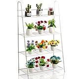 DOEWORKS Soporte de metal para plantas de 4 niveles, estante de almacenamiento...