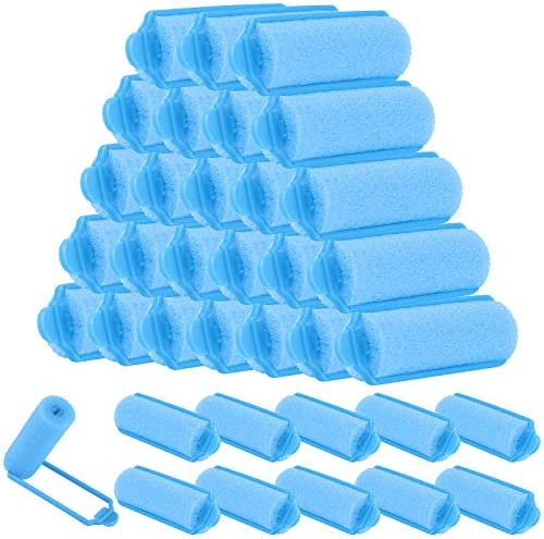 Elcoho 36 Pieces Foam Sponge Hair Rollers 20 mm Mini Foam Hair Styling Curlers Soft Sleeping product image