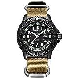 Reloj de Cuarzo para Hombre, Casual, Deportes al Aire Libre, Tubo Luminoso, Reloj Luminoso, Multifuncional, Nailon de la OTAN, Impermeable, Reloj Militar para Hombre