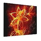 アートパネル 燃える火の花 ポスター 絵画 インテリア 壁絵 装飾画 壁飾り 壁掛け 部屋飾り 40cm×50cm 木枠セット