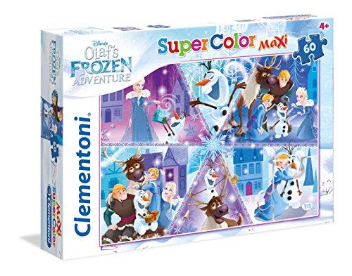 Clementoni- Olaf's Adventure Supercolor Puzzle Maxi, 60 Pezzi, 26436