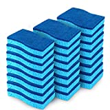 AIDEA Non-Scratch Scrub Sponge, Non-Scratch Cellulose Sponge, Cleans Fast Without Scratching, Stands Up to Stuck-on Grime, Cleaning Power for Everyday Jobs, 24 Scrub Sponges