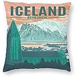 DayToy Vintage Travel World Island Reykjavik Poster 1 Pack