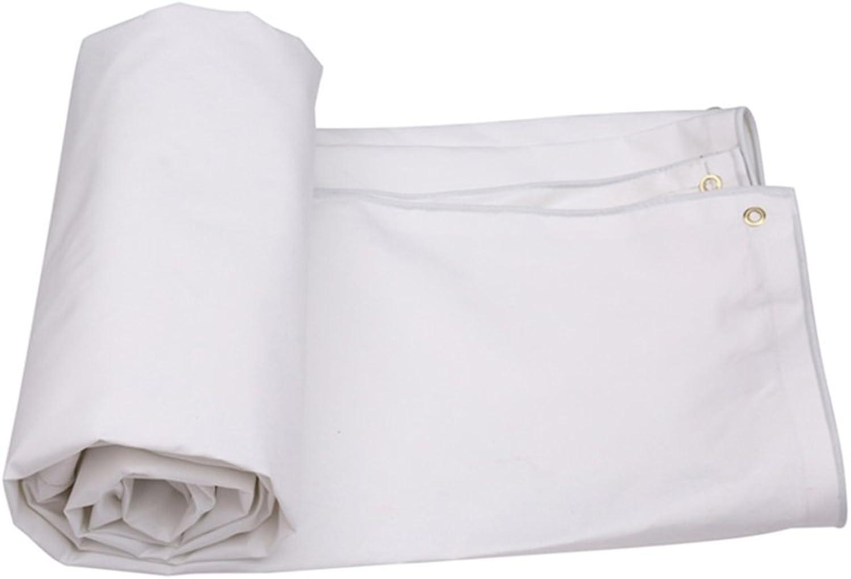 White Large Tarpaulin, PVC Tarpaulin Sheet Waterproof Heavy Duty Camping Shelter Garden Furniture