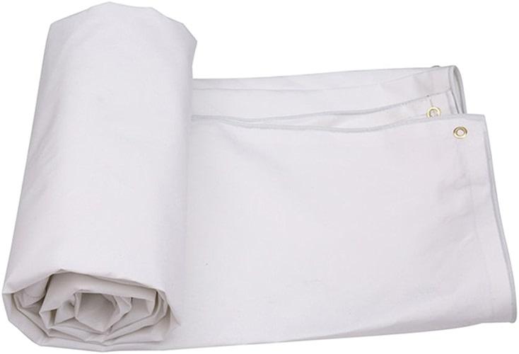 Grande bache Blanche, Feuille de PVC bache imperméable résistante abris de Camping Meubles de Jardin (Taille   4  6m)