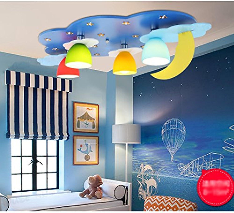 Sheng Kinderzimmer LED Deckenleuchte Blau Kreativ Kindergarten Klassenzimmer Deckenbeleuchtung Segmentierung