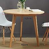 Ybzbx Moderner Couchtisch 91,5 cm Europ?isches Massivholz Einfacher Eichentisch Beistelltisch Couchtisch Sofa Beistelltisch