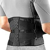 AGPTEK Faja Lumbar para Espalda, Cinturón de Soporte Lumbar Aliviar Dolor y Lesiones, Ciática, Faja Lumbar Deportiva para Hombre y Mujer, Negro(Talla M)
