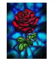 5Dダイヤモンド絵画カラーフラワーダイヤモンド絵画フルセット絵画家庭用モザイクモザイク、 12x16インチ