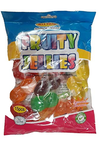 Bag of Fruity Jellies Fruit Pops Jelly TIK Tok Challenge Candy Sweets 300g (15 pcs)
