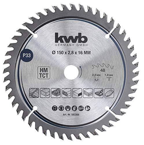 kwb 583368 - Hoja de sierra circular para carpintero (150 x 16 mm)