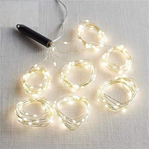 Youmymine 200 LEDs Indoor String Lights Christmas Lights with 10 Strands Copper String Fairys Lights Bunch Lights Christmas Tree, Wedding Party, Room, Indoor Wall Decoration (White, A)