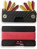 -NEU- GOUTALLIER ® Carbon Kreditkartenetui + Schlüsselorganizer im Set - Slim-Wallet + 3 Bänder...
