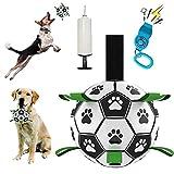 Pallone da calcio per cani con linguette, giocattolo interattivo per tiro della guerra, giocattolo per cani, giocattolo per acqua per cani di piccola e media taglia