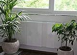 Heizkörperverkleidung 60 x 20 cm Design: Raute, weiß (SET= 3 Stück) Marke: Szagato (Heizkörper-abdeckung für Heizkörper/Heizung Heizungs-verkleidung Heizkörper-verkleidung Heizungs-abdeckung)