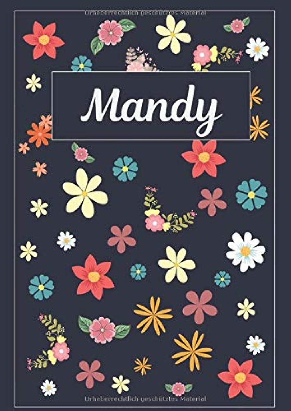 祝福するティーンエイジャー亜熱帯Mandy: Tagebuch Malbuch Notizbuch Journal | 120 Seiten | DIN A4 | Blanko | Geschenkidee