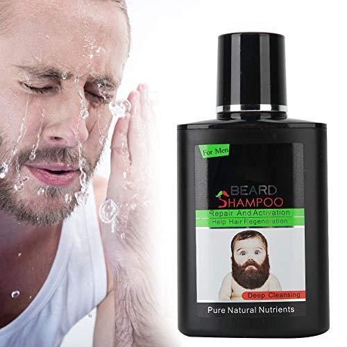 Shampooing pour barbe, 100 ml nourrissant hydratant barbe lavage moustache shampooing de nettoyage en profondeur, adoucit et renforce la croissance de la barbe, soins de la barbe