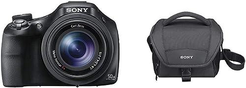 Sony DSC-HX400V Appareil Photo Numérique Bridge, 20,4 Mpix, Zoom Optique 50x, GPS Noir & LCS-U11 Housse de Transport ...