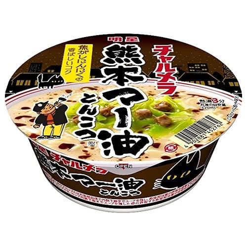 明星食品 チャルメラどんぶり 熊本マー油とんこつ 82g×12個入