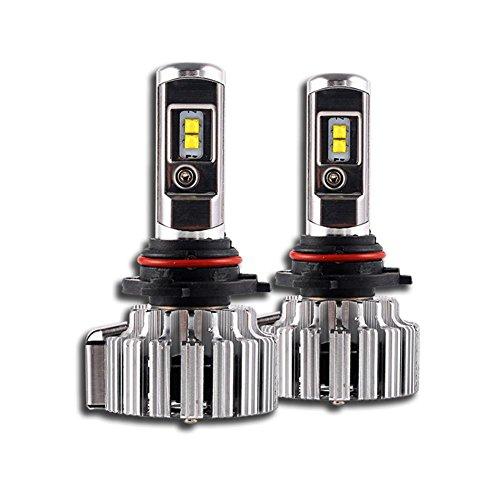 MTTLS KDGWD Fari auto LEDKit di conversione per lampadine a LED - 9006 70W 6000K 9000LM Cool White CREE - Fanale LED automobilistico, 9006