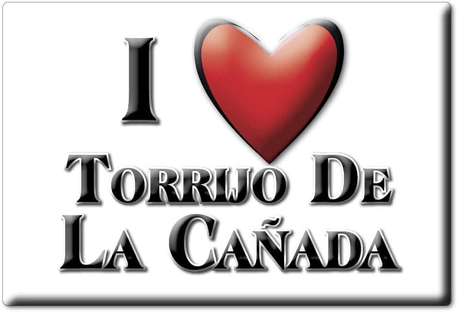 Enjoymagnets TORRIJO DE LA CAÑADA (Z) Souvenir IMANES DE Nevera ESPAÑA ARAGÓN IMAN Fridge Magnet Corazon I Love