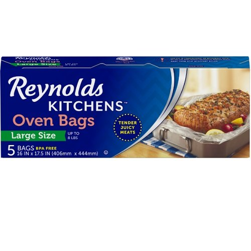 Reynolds Kitchens Large Oven Bags, 16x17.5 Inch, 12 Packs of...