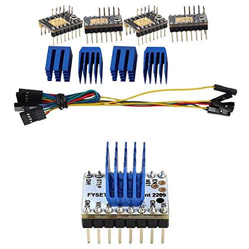Xigeapg 4Pcs Tmc2130 V3.0 Stepper Motor Stepstick Mute Silent Driver & 2Pcs Tmc2209 Stepping Motor Driver 3D Printer Parts