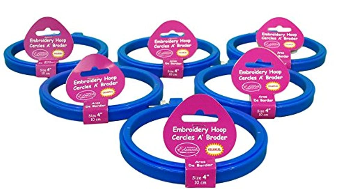 Frank A. Edmunds Set of 6, 4-inch Plastic Embroidery Hoops, CNPH-4/6
