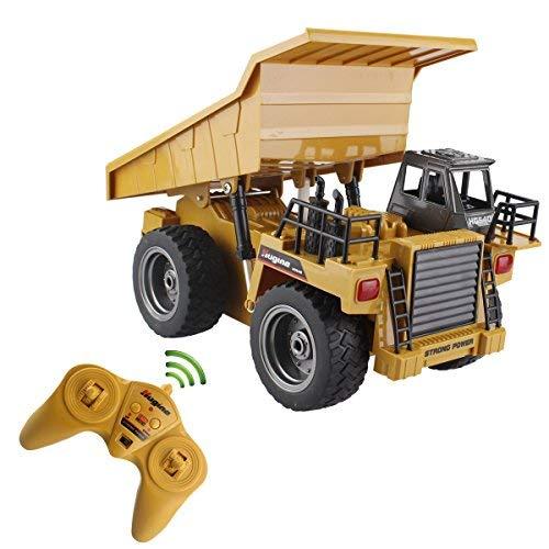 RC Auto kaufen LKW Bild 3: s-idee® S1540 Rc Kipper 6 Kanal Muldenkipper Tieflader Truck 1:18 mit 2,4 GHz kippbare Ladefläche Huina 1540*