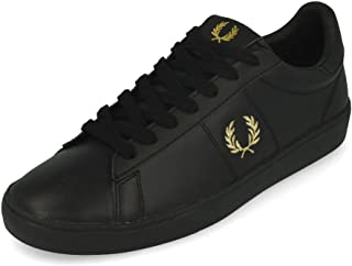 Fred Perry unisex B8250 Shoes, Color: BLACK/METALLIC, Size: 45/45.5 eu