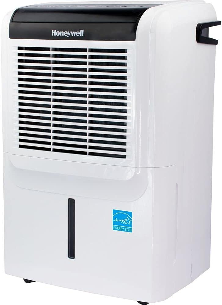Honeywell DH70PWKN 70 Pint (50 Pint 2019 DOE) Energy Star Dehumidifier with Built-in Drain Pump & 5 Year Warranty