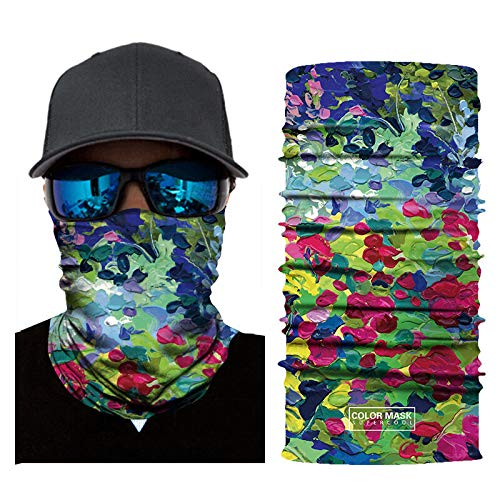 DYYP0309 Estilo de pintura al óleo digital 3D Protección UV de verano Mascarilla de cara Anti Air Contaminación cara bufanda reciclable cuello bufanda para deporte exterior pesca ciclismo Durable