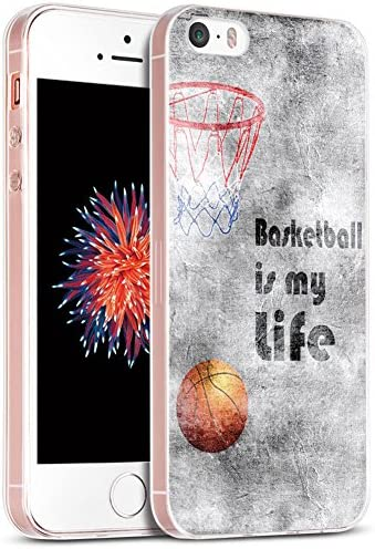 5S Case Case for Phone SE Basketball IWONE Designer Rubber Durable Protective Skin Transparent product image