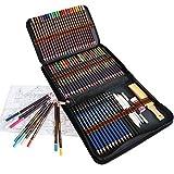 Lapices de Colores Lápices de Dibujo, Juego de 72 piezas incluye Lapices acuarelables, Lapices de dibujo, Grafito, Lapiz de carbón, ideal para Principiantes, Niños y Adultos Dibujo, Coloración
