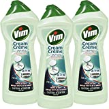 Vim Tough on Dirt Cream with Bleach & Micro-Crystals 750 ml / 25.30 Fl. Oz - 3 Count