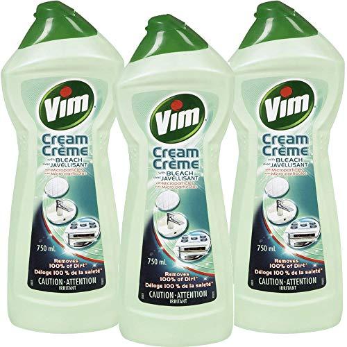 Vim Tough on Dirt Cream with Bleach & Micro-Crystals 750 ml / 25.30 Fl. Oz - 3 Count