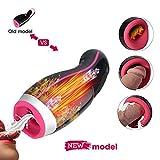 Urnight masajeador de copa con 7 modos de vibración y función de calefacción automática para hombres