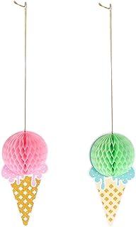 PRETYZOOM Servettpapper vaxkaka boll glass hängande dekorationer pom pomponger pappersboll gör-det-själv väggdekor för bar...