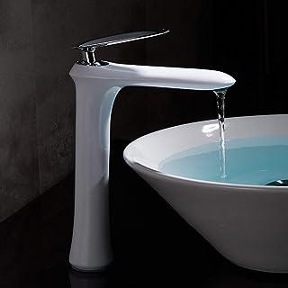 J&LILI Set de bañera de Tres Piezas Grifo de bañera de latón Completo baño de la Cuenca del Mueble Grifo