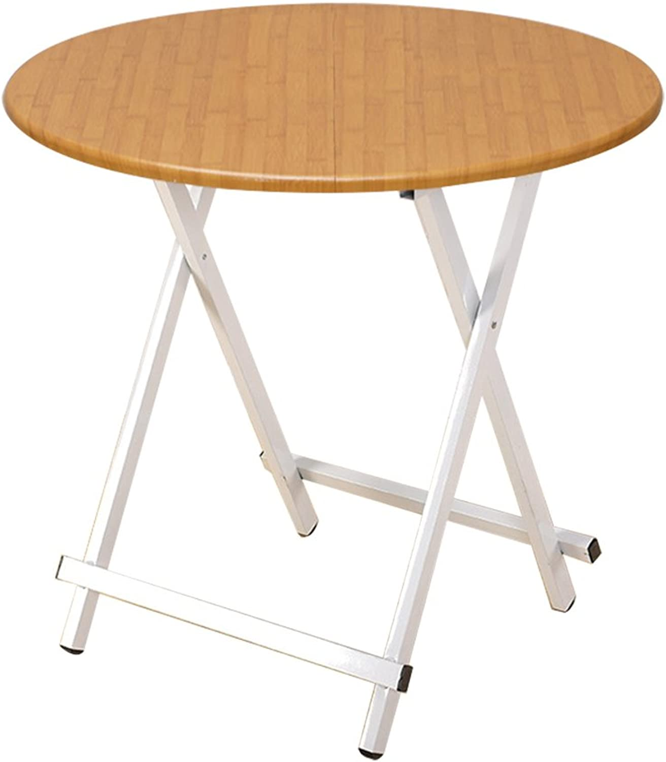 Folding Table Shaped Modern Minimalist Small Folding Table Household Telescopic Round Table Simple Coffee Table-7 colors (can Be Portable) == (color   B, Size   70x74cm)