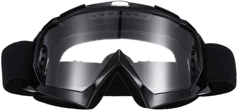 XYDZ Prueba de Viento UV Goggle, Protectoras Moto Ajustable Gafas de Nieve a Prueba de Viento Anti-Niebla Gafas Esqui Snowboard con Protección Lentes Anti-Reflejo para Mujer Hombre Gafas - Negro