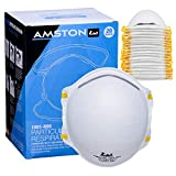 Amston N95 Disposable Dust Masks (20 pack) CDC/NIOSH-certified Particulate Respirators Personal Protective Equipment for Construction, Home, DIY Projects, Allergy, Pollution, Mowing