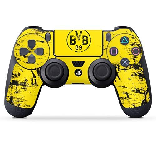 DeinDesign Skin kompatibel mit Sony Playstation 4 PS4 Controller Folie Sticker Borussia Dortmund Offizielles Lizenzprodukt BVB