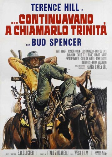 Trinity is Still My Name Poster Italian 27x40 Terence Hill Bud Spencer Yanti Sommer