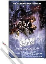 1art1® Póster + Soporte: Star Wars Póster (91x61 cm) Episodio V, El Imperio Contraataca, Cartel De Cine Y 1 Lote De 2 Varillas Transparentes