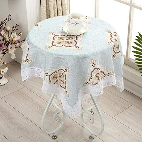 Pastorale Tafelkleed Borduur Vierkante Tafelkleed Met Salontafelkleed Van Kant 140X200Cm