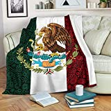 DongDongQiang Mexico Paisley Flag Fleece Blanket Throws,Super Soft Cozy Warm Blanket for Couch Chair Bed Sofa Office,60'X80'for Adult