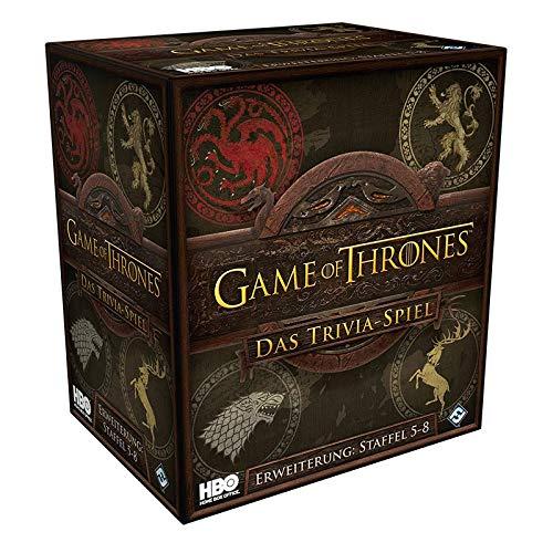 Asmodee Fantasy Flight Games FFGD0171 Game of Thrones: Das Trivia-Spiel - Episode 5-8 - Erweiterung, Experten-Spiel, Deutsch